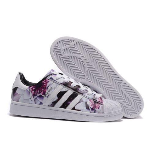 chaussure adidas femme fleur