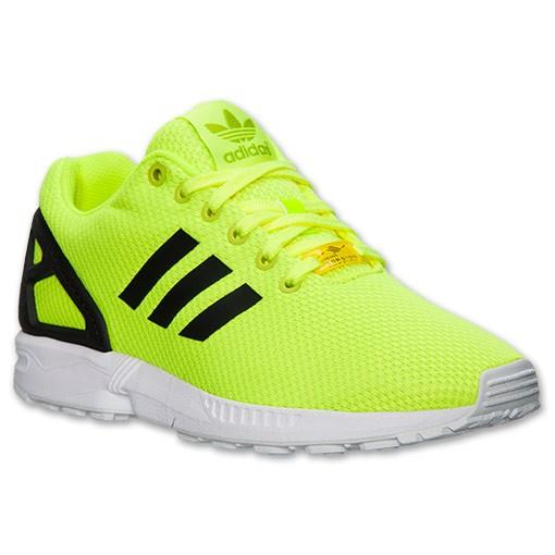 adidas zx flux jaune fluo et noir